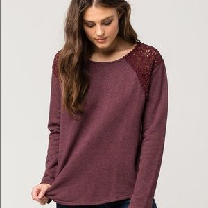 O'Neill Tilly's Plum French Terry Small Sweater